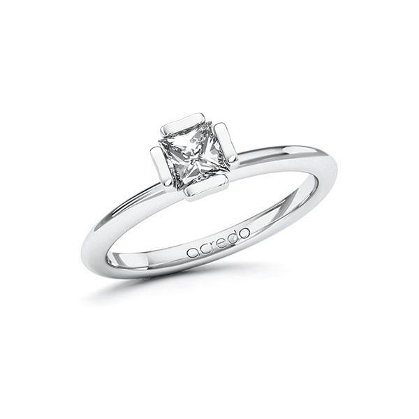 Verlobungsring in Weißgold 585 mit 0,5 ct. Prinzess-Diamant tw, vs von acredo - A-10GCBG-WW5-1QLNLHZ