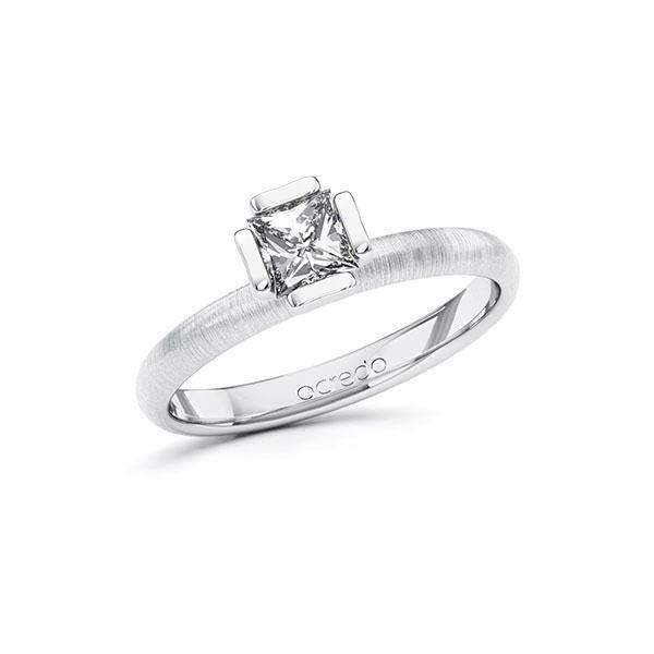 Verlobungsring in Weißgold 585 mit 0,5 ct. Prinzess-Diamant tw, vs von acredo - A-10GD72-WW5-1QLNLHZ
