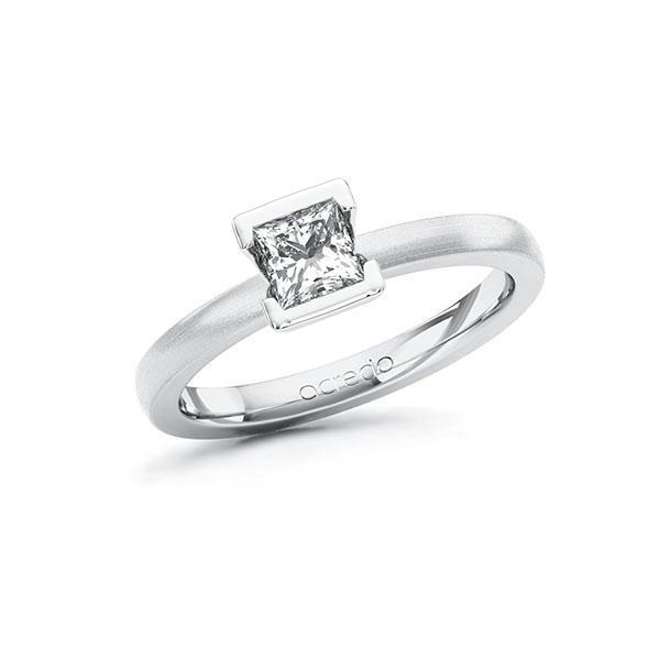Verlobungsring in Weißgold 585 mit 0,5 ct. Prinzess-Diamant tw, vs von acredo - A-ZXBGG-WW5-1QLNLMZ