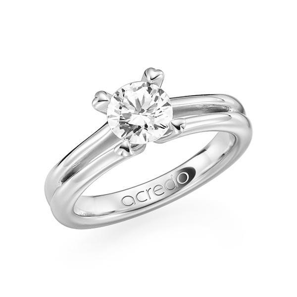 Verlobungsring in Weißgold 585 mit 0,7 ct. Brillant tw, si von acredo - A-F8X66-W5-1R7K9LZ