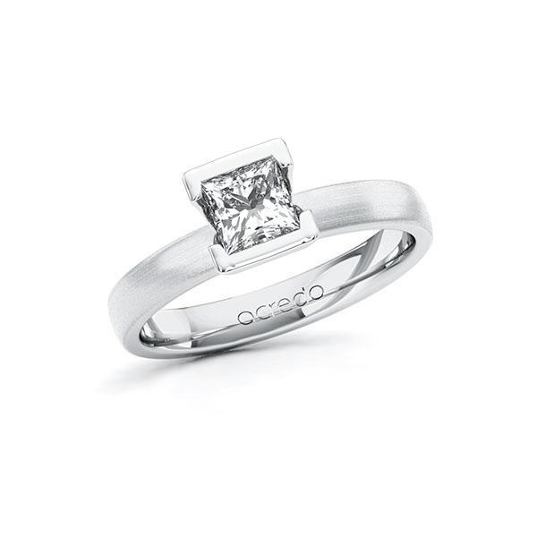 Verlobungsring in Weißgold 585 mit 0,7 ct. Prinzess-Diamant tw, vs von acredo - A-10G5DD-WW5-1R46T2Z