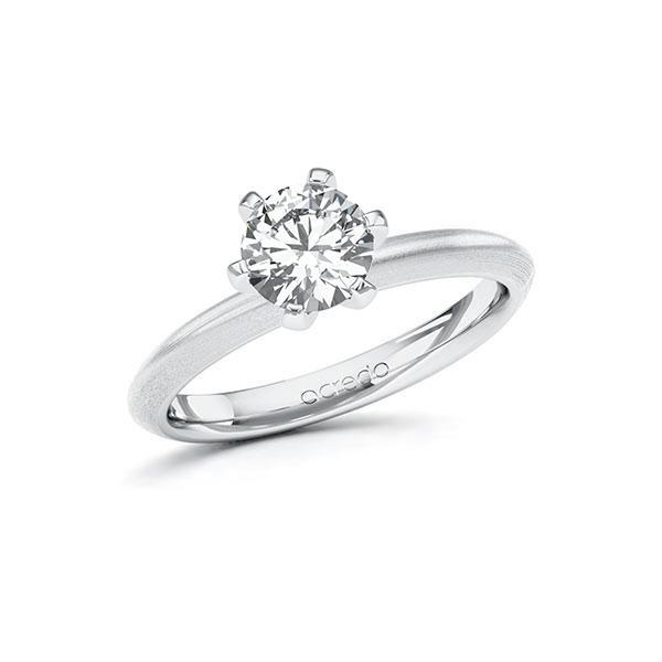 Verlobungsring in Weißgold 585 mit 1 ct. Brillant tw, si von acredo - A-10FGYN-WW5-1R7LEGZ