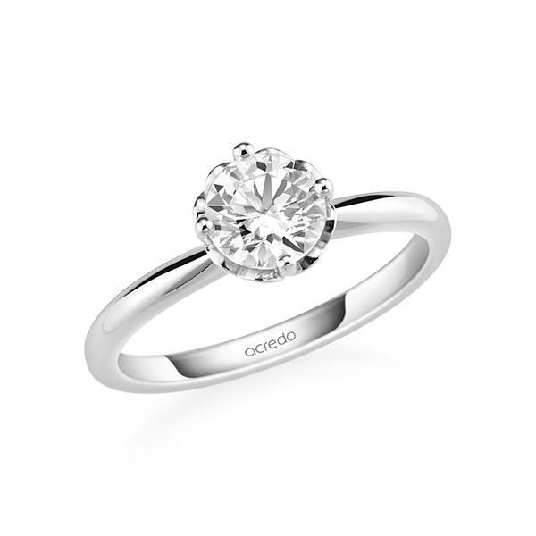 Verlobungsring in Weißgold 585 mit 1 ct. Brillant tw, si von acredo - A-11QCE4-W5-1R7K9MZ