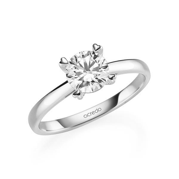 Verlobungsring in Weißgold 585 mit 1 ct. Brillant tw, si von acredo - A-11QGGI-W5-1R7K9MZ
