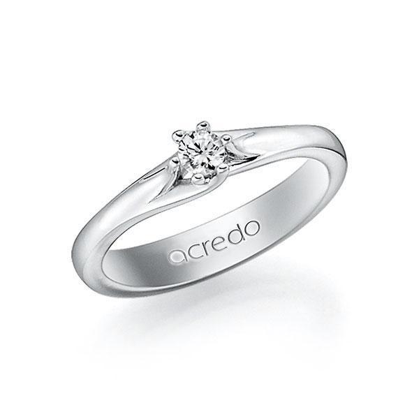 Verlobungsring in Weissgold 585 mit zus. 0,15 ct. Brillant tw, vs von acredo - A-10L69W-W5-1TN9IZ
