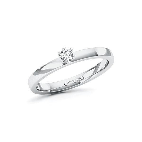Verlobungsring in Weißgold 585 mit zus. 0,1 ct. Brillant tw, si von acredo - A-ZWLWD-WW5-1R0QM8Z