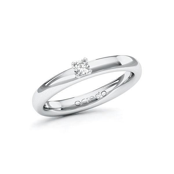 Verlobungsring in Weißgold 585 mit zus. 0,1 ct. Brillant tw, si von acredo - A-ZWN06-WW5-1R0QM9Z