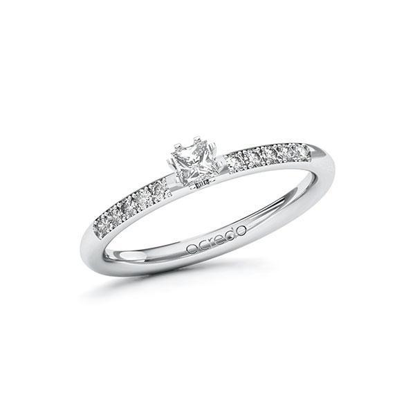 Verlobungsring in Weißgold 585 mit zus. 0,23 ct. Prinzess-Diamant tw, si von acredo - A-10F87L-WW5-1R7V6LZ