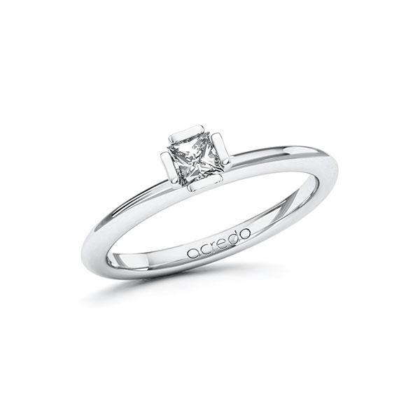 Verlobungsring in Weißgold 585 mit zus. 0,25 ct. Prinzess-Diamant tw, si von acredo - A-10GC6S-WW5-1QLNDWZ