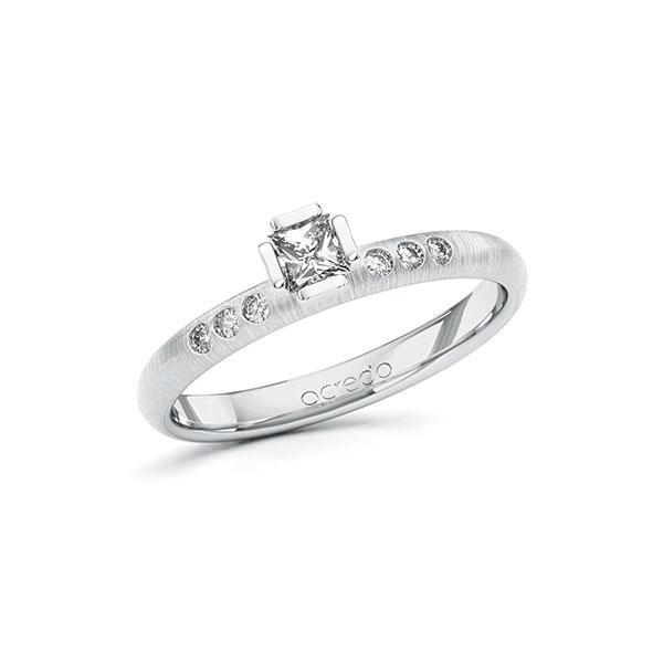 Verlobungsring in Weißgold 585 mit zus. 0,26 ct. Prinzess-Diamant tw, si von acredo - A-ZZRF8-WW5-1S4FJUZ