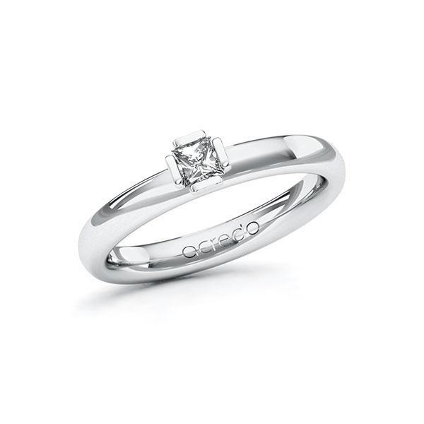 Verlobungsring in Weißgold 585 mit zus. 0,2 ct. Prinzess-Diamant tw, si von acredo - A-ZWN0C-WW5-1R0P6QZ