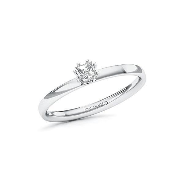 Verlobungsring in Weißgold 585 mit zus. 0,2 ct. Prinzess-Diamant tw, vs von acredo - A-10EPNM-WW5-1R46UWZ
