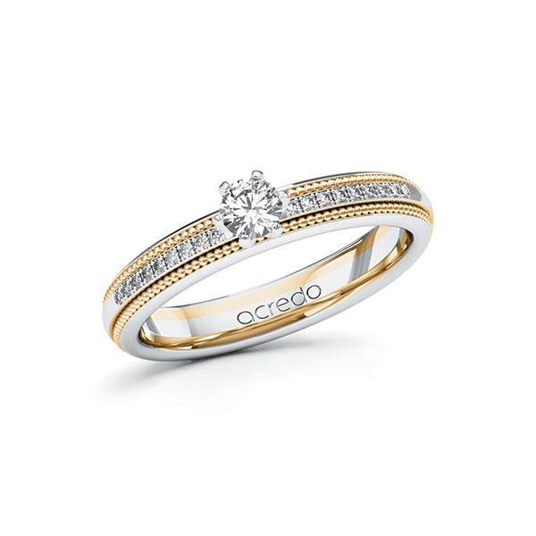Verlobungsring in Weißgold 585 Roségold 585 mit zus. 0,29 ct. Brillant tw, si von acredo - A-11LECM-WEW5-1SVHP3Z