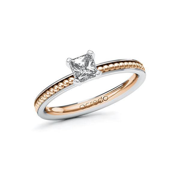 Verlobungsring in Weißgold 585 Rotgold 585 mit 0,5 ct. Brillant tw, vs von acredo - A-10ZMZV-WRW5-1R0QXWZ