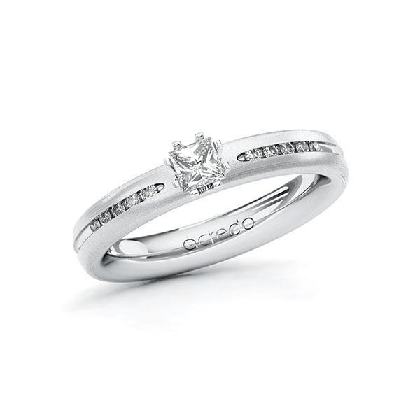 Verlobungsring in Weissgold 750 mit zus. 0,33 ct. Prinzess-Diamant tw, si von acredo - A-10U0RW-WWW7-1RQGY3Z