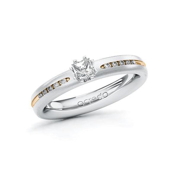Verlobungsring in Weißgold 750 Roségold 750 mit zus. 0,33 ct. Prinzess-Diamant tw, si von acredo - A-10V685-WEW7-1RQGY3Z