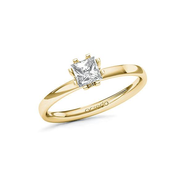 Verlovingsring in geelgoud 14 kt. met 0,5 ct. Princess-Diamant tw,vs van acredo - A-10EPLP-GG5-1QLH05Z