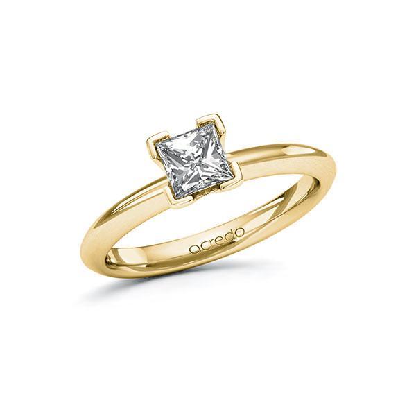 Verlovingsring in geelgoud 14 kt. met 0,7 ct. Princess-Diamant tw,vs van acredo - A-11ZM0E-GG5-1R3PLCZ
