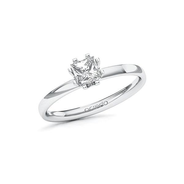 Verlovingsring in witgoud 14 kt. met 0,5 ct. Princess-Diamant tw,vs van acredo - A-10EPLF-WW5-1QLH05Z