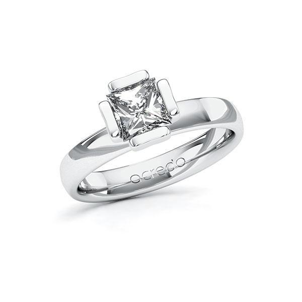 Verlovingsring in witgoud 14 kt. met 1 ct. Princess-Diamant tw,vs van acredo - A-10G50P-WW5-1QLH3BZ