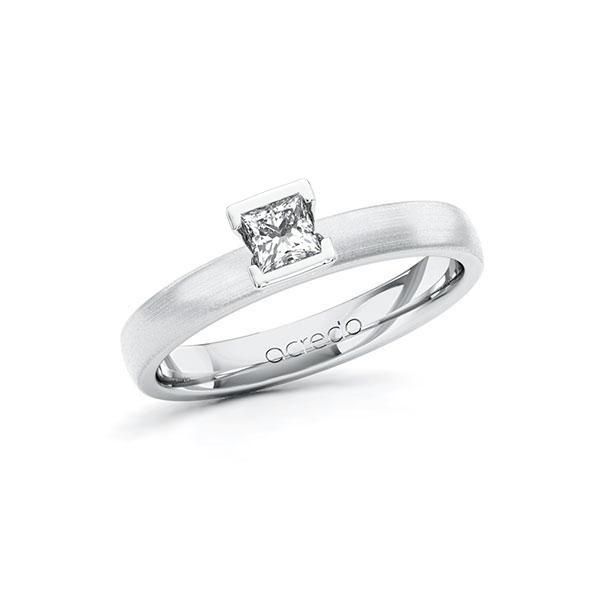Verlovingsring in witgoud 14 kt. met in totaal 0,25 ct. Princess-Diamant tw/si van acredo - A-10G5CQ-WW5-1R471TZ
